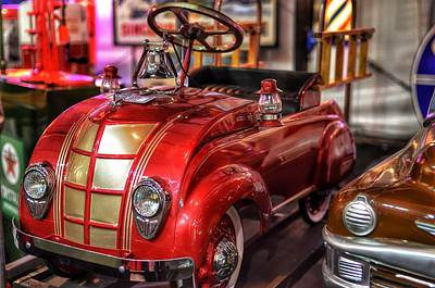 Barrett Jackson Wall Art - Photograph - Fire Truck Pedal Car by Debbie Yuhas