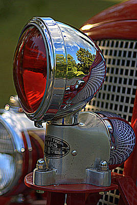 Fire Truck Reflections Art Print