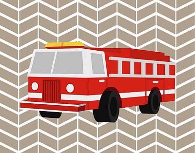 Fire Truck Painting - Fire Truck by Tamara Robinson