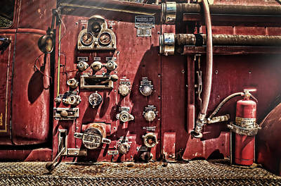 Photograph - Fire Truck Valves by Ken Smith