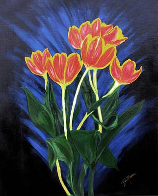 Painting - Fire Tulips by Bill Manson