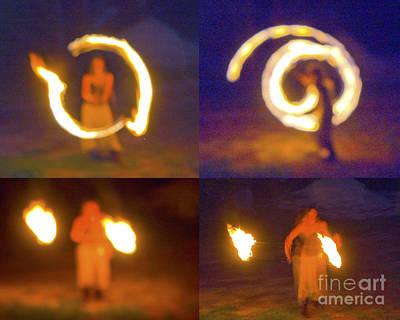 Fire Twirlers Art Print