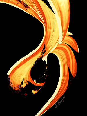Warmth Painting - Fire Water 260 By Sharon Cummings by Sharon Cummings