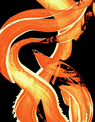 Warmth Painting - Fire Water 302 By Sharon Cummings by Sharon Cummings
