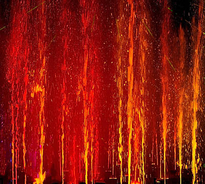 Waterscape Photograph - Fire Water by Denise Dube