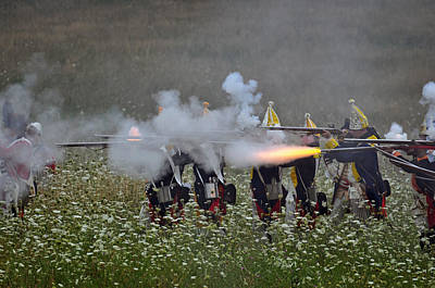 Revolutionary Wars Re-enactment Photograph - Fire by William Coffey