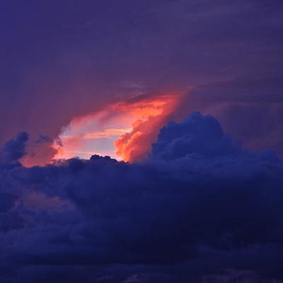 Photograph - Fire Within Stormclouds by Kirsten Giving
