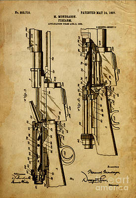 Magazine Mixed Media - Firearm - Patented On 1907 by Pablo Franchi