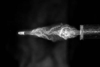 High Speed Photograph - Firearm Silencer by Herra Kuulapaa � Precires