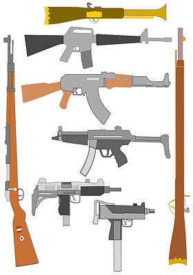 Digital Art - Firearms by John Orsbun