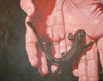 Newts Painting - Firebelly by Bonnie Behan