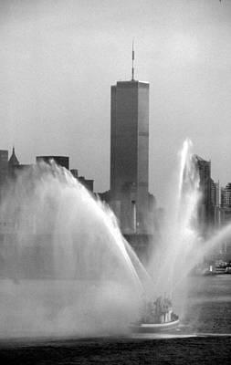 Photograph - Fireboat Salute by John Schneider