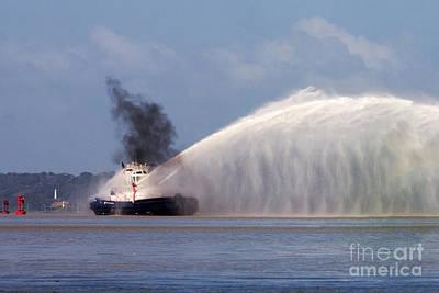 Fireboat Photograph - Fireboat Tug by Bob Hislop