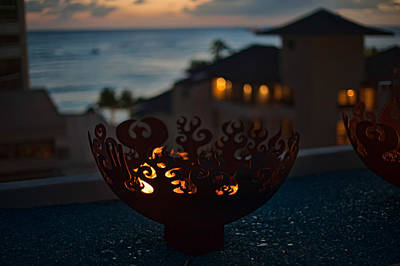 Photograph - Firebowl At Night by Dan McManus