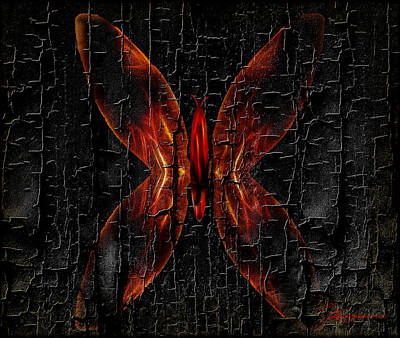 Burnt Digital Art - Firebug - Featured In Comfortable Art Group by EricaMaxine  Price