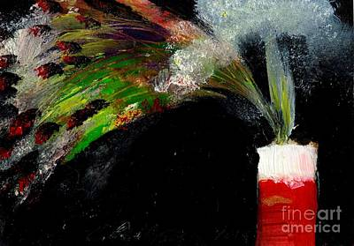 Fused Painting - Firecracker Explodes. Bang Series No. 7 by Cathy Peterson