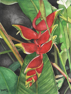 Firecracker Painting - Firecracker Heliconia by Patti Vrabel