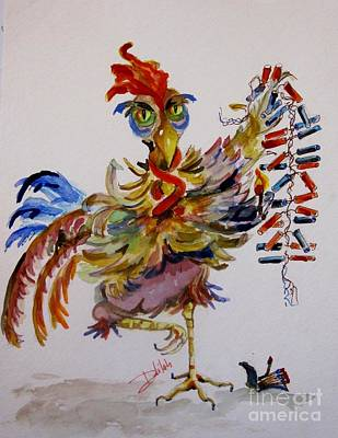 Firecracker Rooster Original by Delilah  Smith