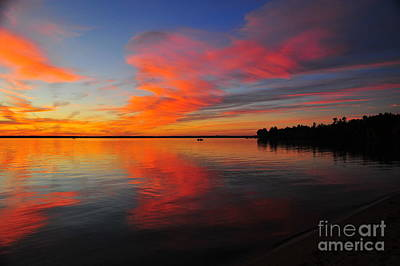 Michigan Photograph - Firecracker Sunset 15 by Terri Gostola