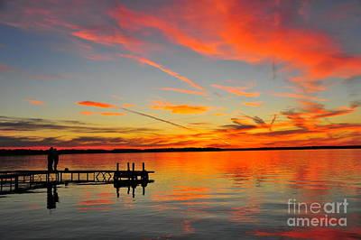 Twilight Photograph - Firecracker Sunset 17 by Terri Gostola