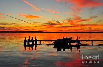 Evening Photograph - Firecracker Sunset 25 by Terri Gostola