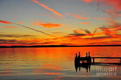 Lake Photograph - Firecracker Sunset 27 by Terri Gostola
