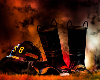 Courage Photograph - Firefighter by Bob Orsillo