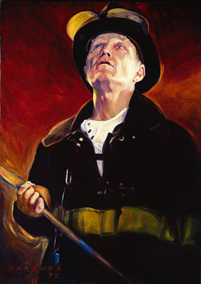 Fire Equipment Painting - Firefighter Boyle by Jesse Gardner