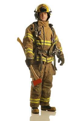 Bravado Photograph - Firefighter by Don Hammond
