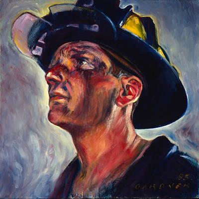 New Training Painting - Firefighter George Kreuscher by Jesse Gardner