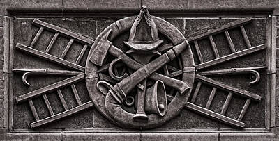 Photograph - Firefighter Symbols by Phil Cardamone