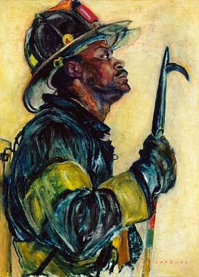Fire Equipment Painting - Firefighter Wright - Roots by Jesse Gardner