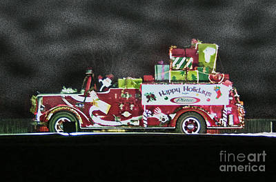 Firefighters Christmas Art Print by Tommy Anderson