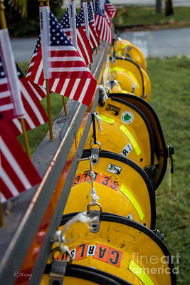Photograph - Firefighters Memorial To The Brave by Rene Triay Photography
