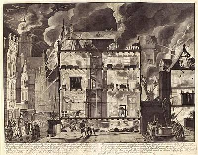 1600s Wall Art - Photograph - Firefighting In Amsterdam by Manuscripts And Archives Division/new York Public Library