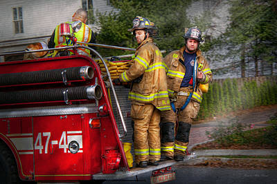 Photograph - Firefighting - Only You Can Prevent Fires by Mike Savad