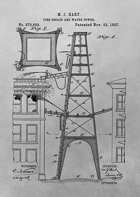 Drawing - Firefighting Patent Drawing by Dan Sproul