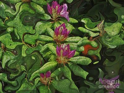 Fireflies And Flowers Art Print