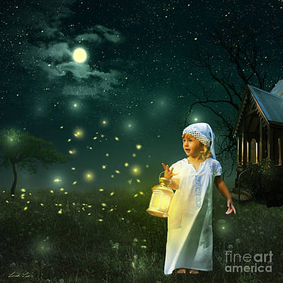 Bug Digital Art - Fireflies by Linda Lees