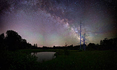 Photograph - Fireflies Under The Stars by Brent L Ander