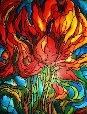 Painting - Fireflower by Rae Chichilnitsky