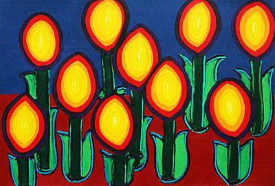 Fireflowers Art Print by Matthew Brzostoski