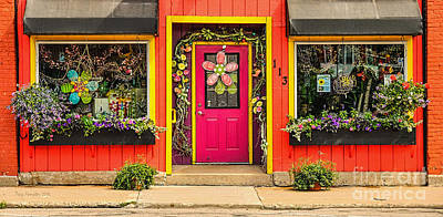 Art Print featuring the photograph Firefly Floral Shop by Trey Foerster