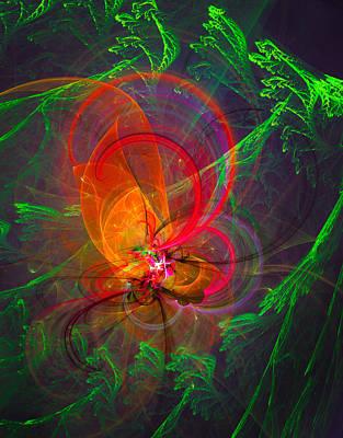 Spiritual Art Digital Art - Firefly by Modern Art Prints