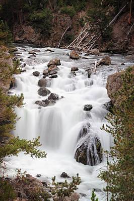 Waterfall Photograph - Firehole Falls by Benjamin DeHaven
