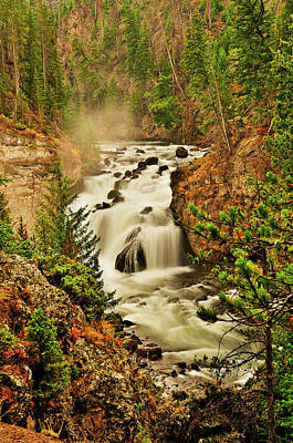 Photograph - Firehole Falls by Greg Norrell