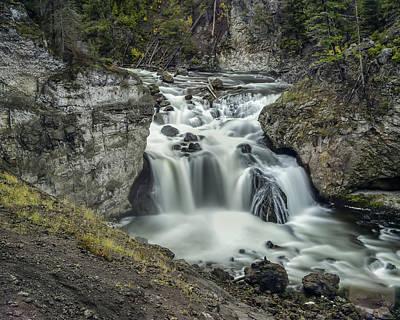 Water Filter Photograph - Firehole Falls by Jennifer Grover