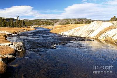 Photograph - Firehole River by Adam Jewell