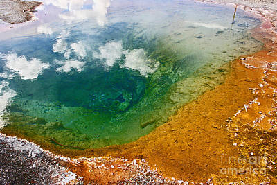 Firehole Spring Ten Art Print