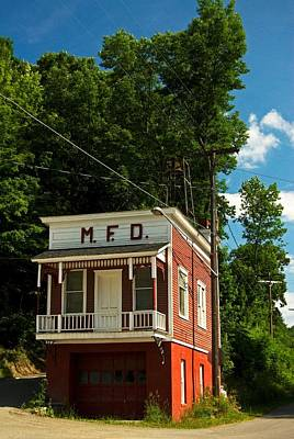Photograph - Firehouse Meshoppen Pennsylvania by Elsa Marie Santoro